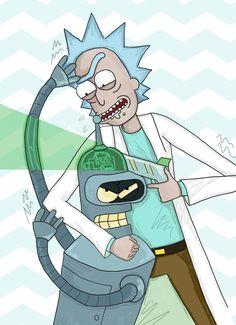 Rick and Morty,Рик и Морти, рик и морти, ,фэндомы,R&M crossover,Rick and Morty crossover, R&M кроссовер,Rick Sanchez,Rick, Рик, рик, рик санчез,R&M Персонажи,R&M art,Rick and Morty art, R&M арт, Рик и Морти арт,Futurama,мультики,bender