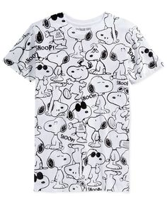 Rock your love of Snoopy with this fun, graphic T-shirt by Jem. | Cotton…