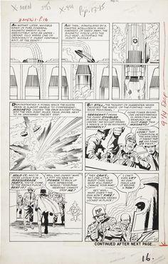 Stan Lee, Jack Kirby, Paul Reinman, Sam Rosen | X-Men #1, page 14, 1963. Original page, uncoloured. | #comics #marvel