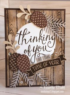 Hello, crafty friends. Today's card features shades of brown and gray for this weeks color challenge at Sunday Stamps!        A woodsy card...