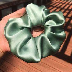 Diy Embroidery Shirt, Silk Hair, Elastic Hair Ties, Soft And Gentle, Skinny Ties, Smooth Hair, Green Silk, Mulberry Silk, Damaged Hair