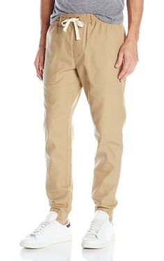Original Penguin Men's Woven Dobby Jogger Pant, Kelp, Medium ❤ Penguin Men's Sportswear & Accessories