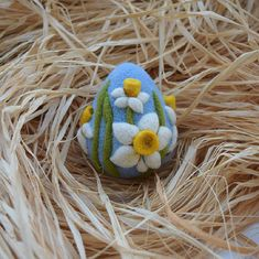 Easter Felted Eggs, Easter Decorations, Easter Gift, Needle Felted Egg, Ornaments, Ready to Ship