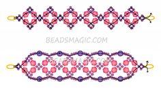 Free pattern for bracelet Florence | Beads Magic