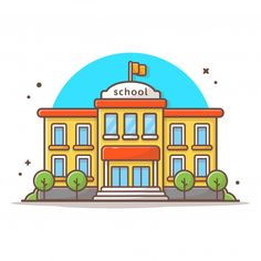 Building And Landmark Icon Concept White Isolated Building Icon, Building For Kids, School Building, Drawing School, Drawing For Kids, Cartoon Building, Emoji Drawings, Fun Educational Games, Office Icon
