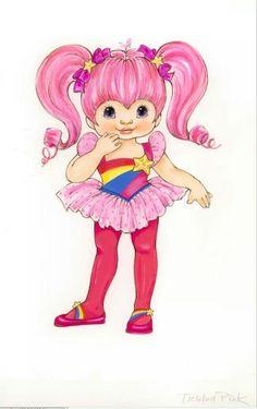Original idea for Tickled Pink. 1980s Childhood, Childhood Memories, Rainbow Brite, Drawing Reference Poses, Cool Cartoons, Custom Dolls, Disney Style, Vintage Dolls, Cute Kids