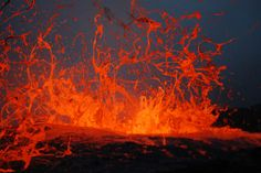 Bubble Burst, Kilauea Volcano at Waikupanaha ocean entry Aug 2008