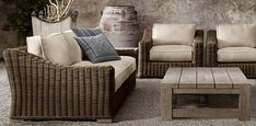 Relaxed, classy beach style. Provence Collection- Restoration Hardware Outdoor Furniture Collections