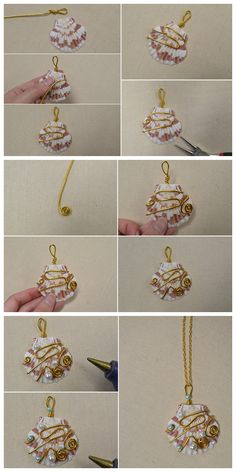 Beebeecraft instructions on how to make a puka shellpendant necklace Diy Jewelry To Sell, Diy Jewelry Tutorials, Diy Jewelry Making, Jewelry Crafts, Seashell Jewelry, Beaded Jewelry, Jewellery, Diy Collier, Bijoux Fil Aluminium