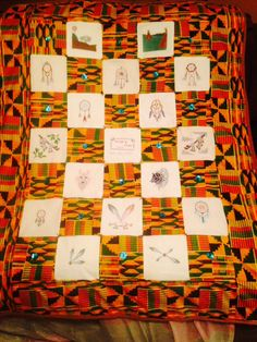 Quilt of Native American images