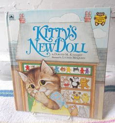 Vintage Kitty's New Doll Golden Storytime Book by ShopHereVintage