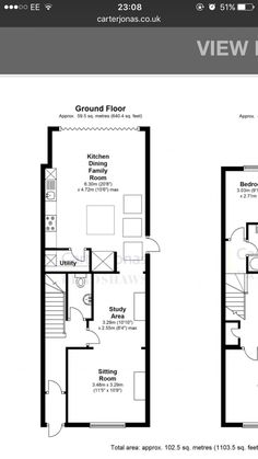 Kitchen Extension Floor Plan, House Extension Plans, House Extension Design, Extension Designs, Rear Extension, Extension Ideas, House Design, House Layout Plans, House Layouts