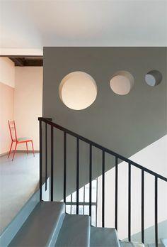 Studio A + Z Design: A + Z Loft House, HFF knitting factory complex, Budapest. http://a-z.eu.com/az-loft-house/