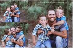 these boys love their dad. pose family photography family of 4