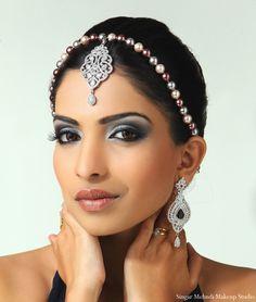 Love the makeup and jewelry    Hair and Makeup Inspiration Shoot by Singar Mehndi Makeup Studio | MaharaniWeddings.com