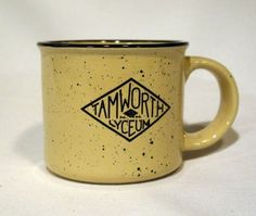 Enameled ceramic mug with the traditional Granite splatters (for our Granite State). #Tamworth #Lyceum