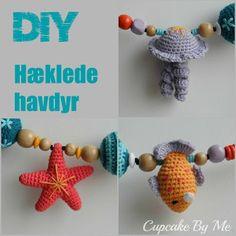 Cupcake By Me ©: DIY og hækleopskrifter Crochet Fish, Crochet For Kids, Diy Crochet, Crochet Crafts, Crochet Dolls, Crochet Baby, Crochet Projects, Diy Crafts, Crochet Summer