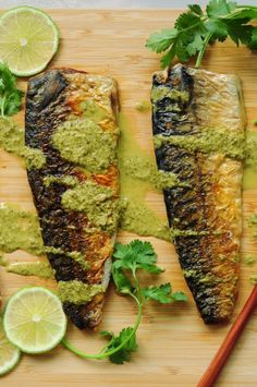 sous vide mackerel recipe with perfectly tender meat and crispy skin. Drizzled with a homemade spicy cilantro lime dressing, it makes a quick and easy workday dinner. Healthy Freezer Meals, Healthy Recipes, Healthy Food, How To Make Wontons, Egg Recipes, Sweets Recipes, Kitchen Recipes, Free Recipes
