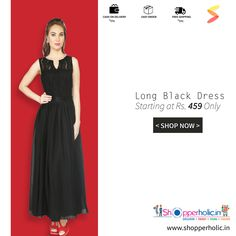 Long Black Dress for her...  https://www.shopperholic.in/ #dress #offers #discounts #latest_trends #clothing #womenswear #fashion #cool_trends #freeshipping #cashondelivery #easyorder Shop Now!