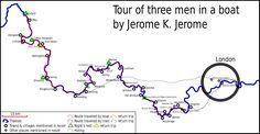 Three Men in a Boat - map of tour - Three Men in a Boat - Wikipedia