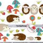 Hedgehogs Clipart by Poppydreamz Digital Art includes: A variety of hedghogs, snails, flowers, mushrooms and grass. All come in color and line art. $