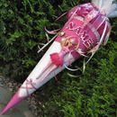 *SCHULTÜTE mit Barbie-Ballerina!!!!!*  Schultüte für Mädchen.  Schultüte besticht durch edle Materialien  und Farbkontraste. Der Name des Kindes in Glitzerschrift und feine Rosenranke zieren...