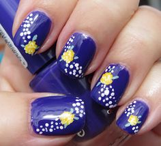 Marias Nail Art and Polish Blog: Passion for fashion flowers