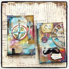 Scrapbook Territory: Tim Holtz Distress Paints - CHA Canvas Class