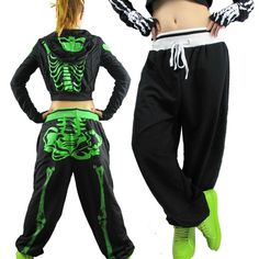 Costumes shut RNB the thin section Skull hip-hop pants female hip-hop HIP-HOP pants sweatpants practice pants ds
