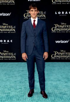 Brenton Thwaites attends the Pirates of the Caribbean Premiere
