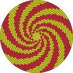"""The location where building and construction meets style, beaded crochet is the act of using beads to decorate crocheted products. """"Crochet"""" is derived fro Crochet Bedspread Pattern, Tapestry Crochet Patterns, Crochet Mandala Pattern, Crochet Flower Patterns, Crochet Chart, Bead Crochet, Beading Patterns, Mochila Crochet, Beaded Banners"""