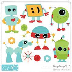 Beep Beep Clipart Vol 3  Digital Clip Art  by StudioCinCo on Etsy, $4.95