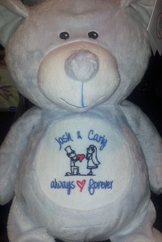 Cubbies aren't just for kids.  They make great engagement/wedding gifts as well.  $39.95 + postage from Bush Dog Embroidery  .  https://www.bushdogembroidery.com.au/cubbies/