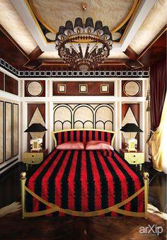 Спальня: интерьер, квартира, дом, спальня, барокко, 20 - 30 м2 #interiordesign #apartment #house #bedroom #dormitory #bedchamber #dorm #roost #baroque #20_30m2
