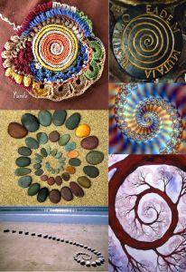 Art Club Projects, Projects For Kids, Form Drawing, Fibonacci Spiral, Art Area, Ecole Art, Land Art, Art Plastique, Sacred Geometry