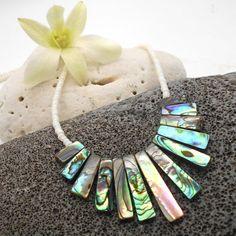 Sea Shell Necklace Abalone Cleopatra Statement Bib Necklace