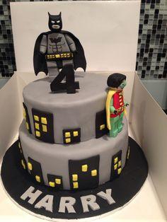 Lego batman cake I made for my sons 4th birthday
