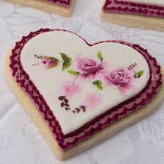 """"": Happy Valentine's Day! My Valentine's gift to you is this sweet Hand Painted Victorian Floral Swag Cookie tutorial Thank you!! 💓💕💖💞"