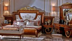 Italian Bedroom Furniture with BIG DISCOUNTS. Shop for European luxury bedroom sets from Luxury Furniture and Lighting. Classic, modern and comtemproary. Italian Bedroom Sets, European Bedroom, Luxury Bedroom Sets, Italian Bedroom Furniture, Royal Furniture, Bedroom Furniture Sets, Luxurious Bedrooms, Luxury Furniture, Furniture Design