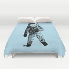 Goldfish Astronaut Duvet Cover by Matt Irving - $99.00