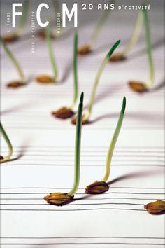 graphisme : Michal Batory, graines germées-notes de musique