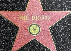 The Doors' star on the Hollywood Walk of Fame (February 28, 2007)