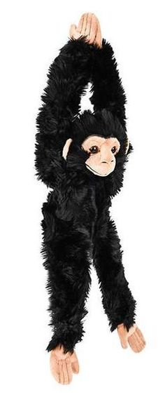 WHAT'S INCLUDED: From a realistic design and distinctive facial markings, this hanging plush Chimp is simply irresistible! This plush Chimp is huggable, hand-washable, soft, shed-free and made from high quality acrylic, polyester and stitching to ensure added safety!  	 DIMENSIONS: Measuring at 18 inches, our adorable hanging Chimp stuffed animals are comfortable and soft to the touch! The perfect size for at home and take on the go play!  	 MULTI-PURPOSE: Expand your child's interest in…