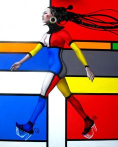 the walking woman - Painting by Patrick Boussignac at touchtalent 2773