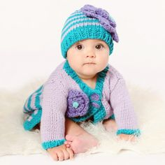 Purple and Blue Sweater and Hat SET for Baby and Toddler Girls Baby Girl Sweaters, Blue Sweaters, Sweater Hat, Purple Baby, Girly Things, Girly Stuff, Baby Hats, Crochet Hats, Knitting