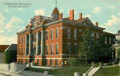 Chattanooga TN~Chattanooga Senior High School~1910 Postcard