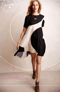 We are obsessed with how @anthropologie styled our black/white swing dress!