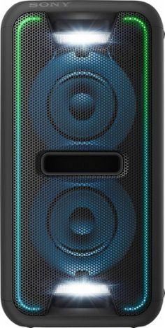 Sony - Extra Bass Audio System with Bluetooth - Black - Angle_Zoom Sony Speakers, Wireless Speaker System, Party Speakers, Hi Fi System, Audio System, Playstation, Bass, Boombox, Impreza