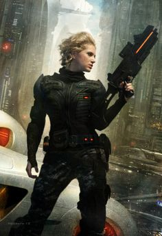 Andromeda's Fall Picture (2d, illustration, sci-fi, girl, woman, soldier, weapon)