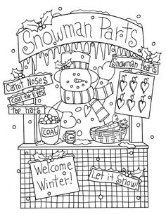 snowman booth dearie dolls digi stamps this is my favorite oh my gosh christmas coloring pagessnowman